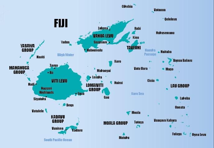 Fiji Map Via Sea Mercy